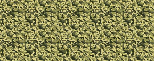 Khaki Camouflage Design Medium Personalised Banner - 6ft x 2.25ft