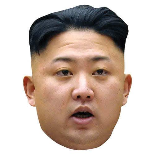 Kim Jong-Un Cardboard Face Mask