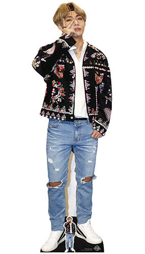 Kim Tae-hyung V BTS Bangtan Boys Lifesize Cardboard Cutout 180cm Product Image