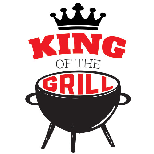 Red King Of The Grill PVC Party Sign Decoration 25cm x 25cm Product Image