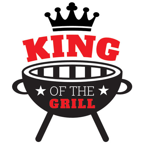 King Of The Grill Stars PVC Party Sign Decoration 25cm x 25cm Product Image