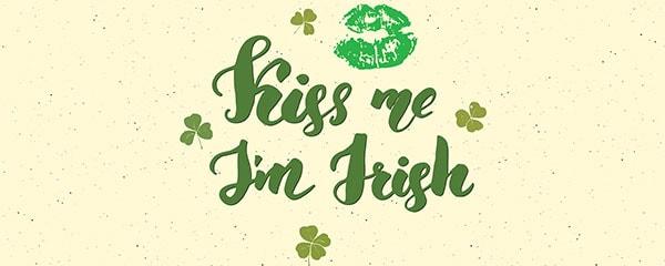 Kiss Me I'm Irish St. Patrick's Day PVC Party Sign Decoration 60cm x 25cm Product Image