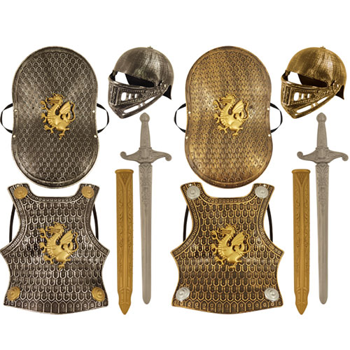 Knight Armour Plastic Set Children Fancy Dress Product Image