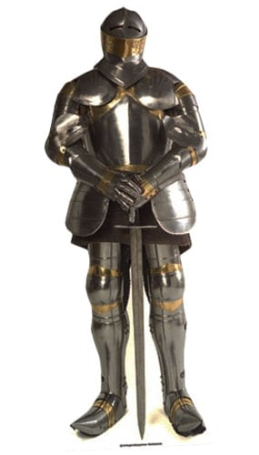 Knight in Shining Armour Lifesize Cardboard Cutout - 186cm Product Image