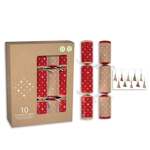Kraft Christmas Crackers 30cm / 12 in - Pack of 10