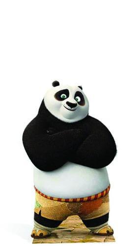 Kung Fu Panda Po Mini Cardboard Cutout - 95cm Product Image