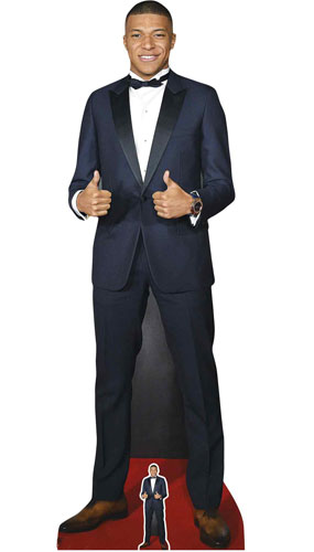 Kylian Mbappe Thumbs Up Lifesize Cardboard Cutout 180cm