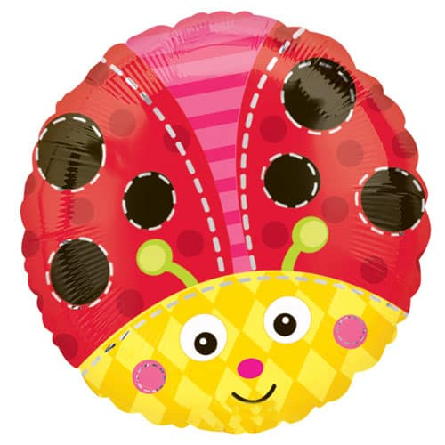 Lady Bug Round Foil Helium Balloon 43cm / 17Inch Product Image