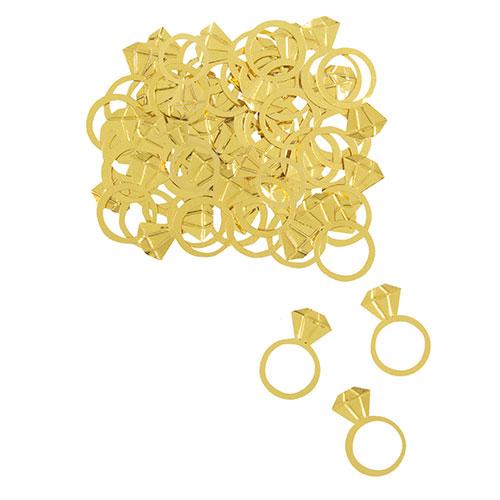 Large Gold Diamond Ring Foil Table Confetti 14 Grams