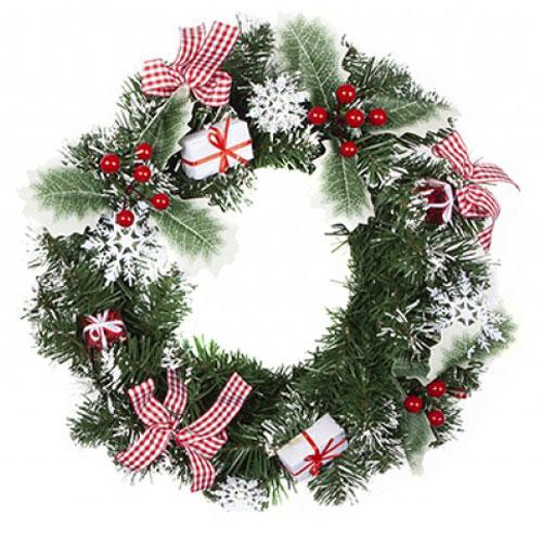 Large Nordic Wreath Christmas Decoration 33cm