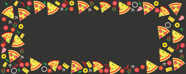 Pizza Slices Design Large Personalised Banner - 10ft x 4ft