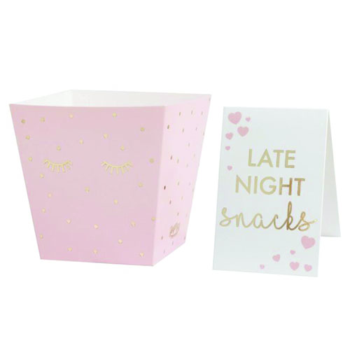 Pink Pamper Party Gold Foiled Sleepy Eyes Late Night Snack Bar Kit Product Gallery Image