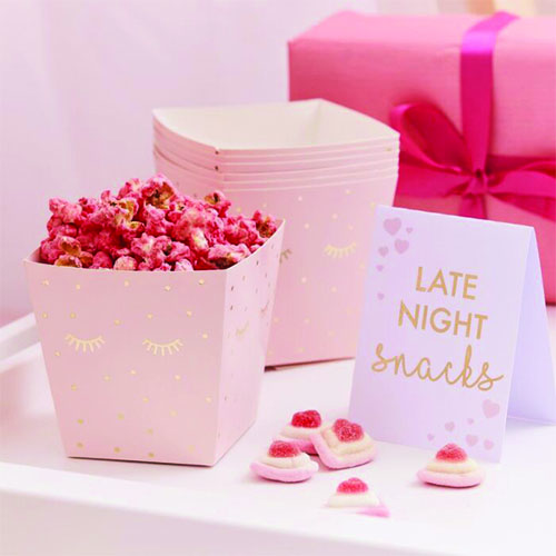 Pink Pamper Party Gold Foiled Sleepy Eyes Late Night Snack Bar Kit