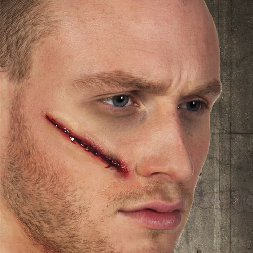 Latex Wound Cut Halloween Fancy Dress Product Image