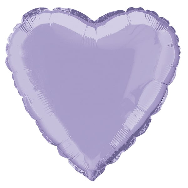 Lavender Heart Foil Helium Balloon 46cm / 18Inch Product Image