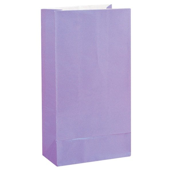 Lavender Paper Party Bags - Pack of 12