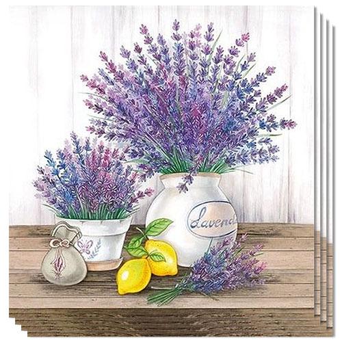 Lavender Premium Luncheon Napkins 3Ply 33cm - Pack of 20