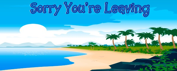Moving Away Sea and Beach Design Small Personalised Banner - 4ft x 2ft