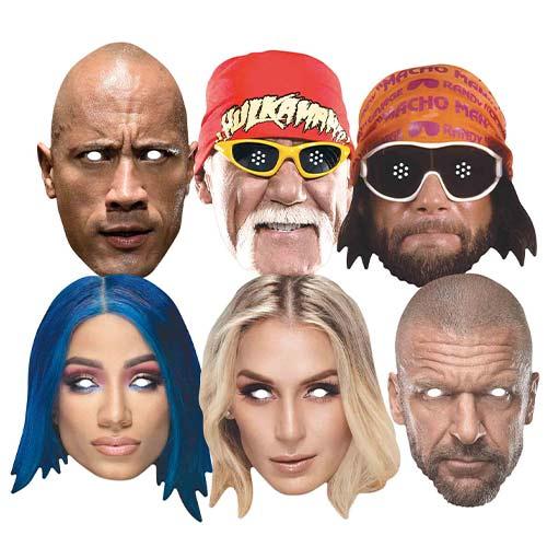 Legendary WWE Stars Cardboard Face Masks - Pack of 6 Product Image