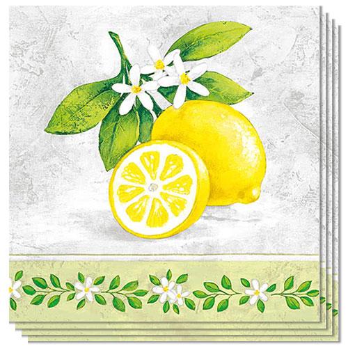 Lemon Branch Premium Luncheon Napkins 3Ply 33cm - Pack of 20