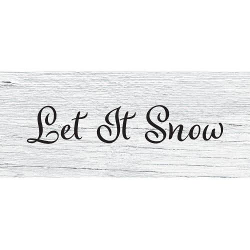 Let It Snow Wooden Effect Christmas PVC Party Sign Decoration 60cm x 25cm Product Image
