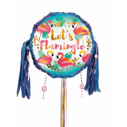 Lets Flamingle Pull String Pinata