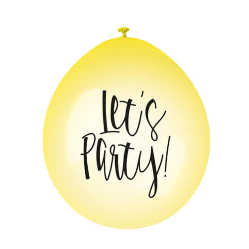 Lets Party Print Assorted Neon Biodegradable Latex Balloons 23cm / 9Inch - Pack of 10 Product Gallery Image