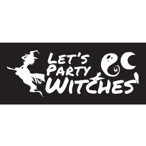 Lets Party Witches Halloween PVC Party Sign Decoration 60cm x 25cm Product Image