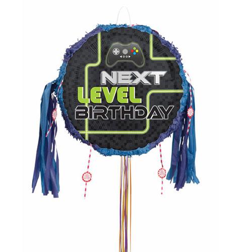 Level Up Gamer Birthday Pull String Pinata Product Image