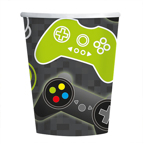Level Up Gaming Paper Cups 250ml - Pack of 8
