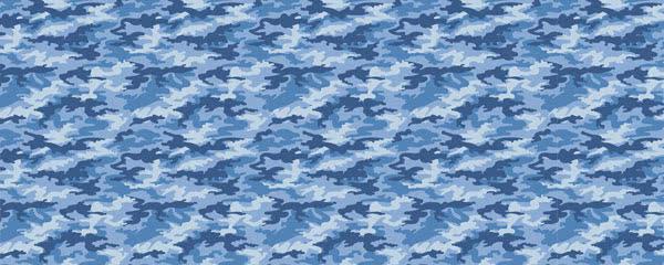 Light Blue Camouflage Design Medium Personalised Banner - 6ft x 2.25ft