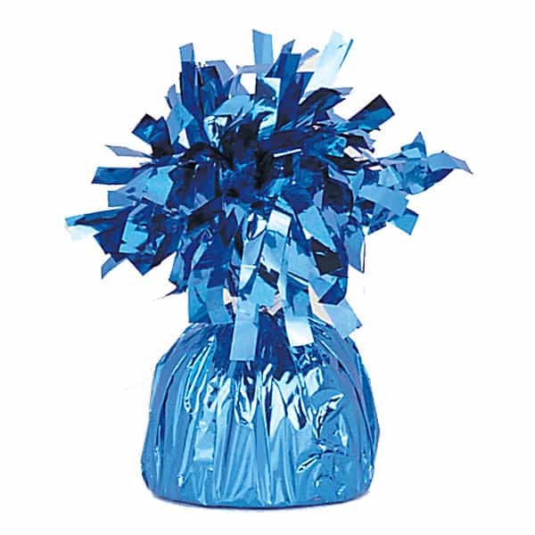 Light Blue Foil Balloon Weight Product Image