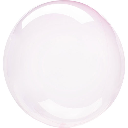 Light Pink Crystal Clearz Bubble Helium Balloon 46cm / 18 in Product Image