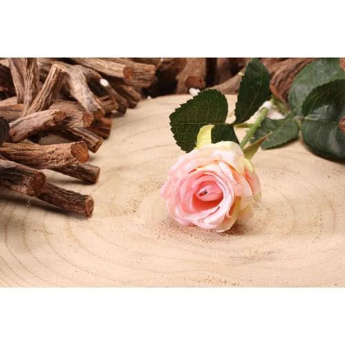 Light Pink Diamond Rose Artificial Silk Flower 40cm