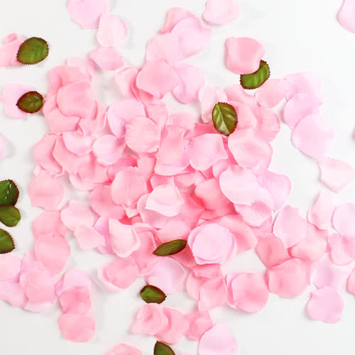 Light Pink Fabric Rose Petals