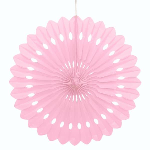 Light Pink Hanging Decorative Honeycomb Fan 40cm Product Image