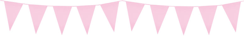 Light Pink Plastic Pennant Bunting 10m Product Image