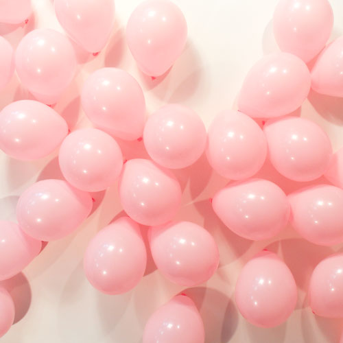 Light Pink Round Mini Latex Qualatex Balloons 13cm / 5 Inch - Pack of 100 Product Image