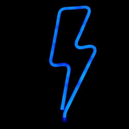 Lightning Shaped Neon Light Hanging Decoration 33cm Product Image