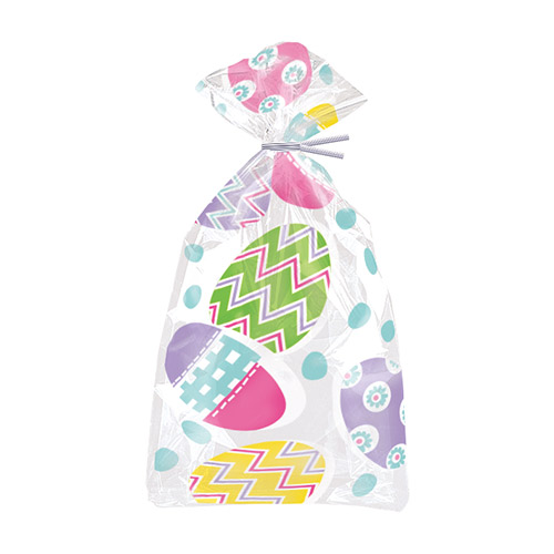 Lilac Easter Cello Gift Bags with Twist Ties - Pack of 20