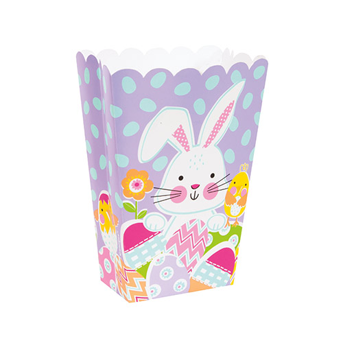 Lilac Easter Paper Treat Boxes - Pack of 6 Product Image