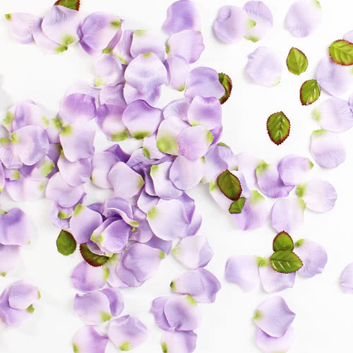 Lilac Fabric Rose Petals Product Image
