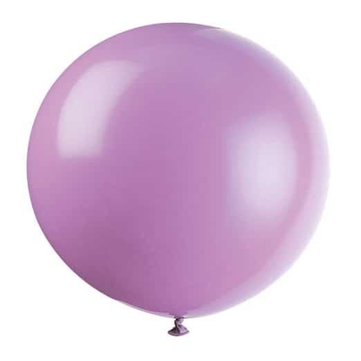Lilac Jumbo Biodegradable Latex Balloon - 91cm Product Image