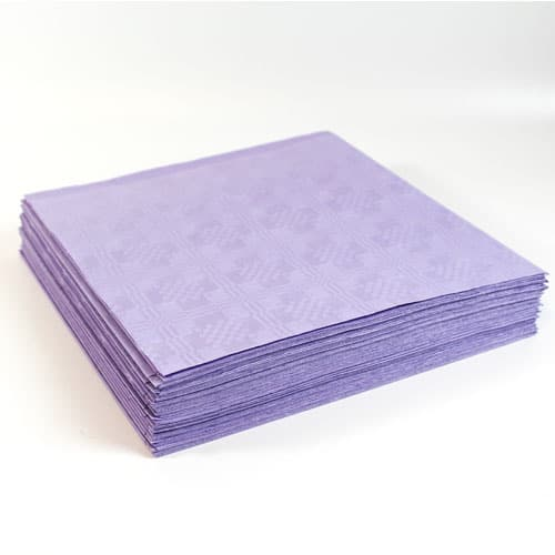 Lilac Paper Tablecovers - 90cm x 90cm - Pack of 25
