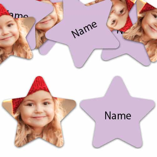 STAR Shape - Lilac Personalised Confetti - Pack of 50 Product Image