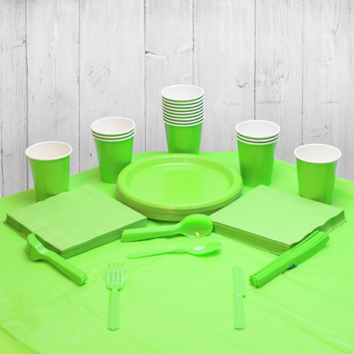 Lime Green 14 Person Party Pack