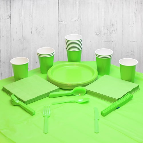 Lime green 18 Person Party Pack