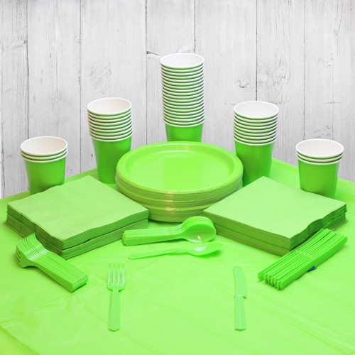 Lime Green 56 Person Party Pack