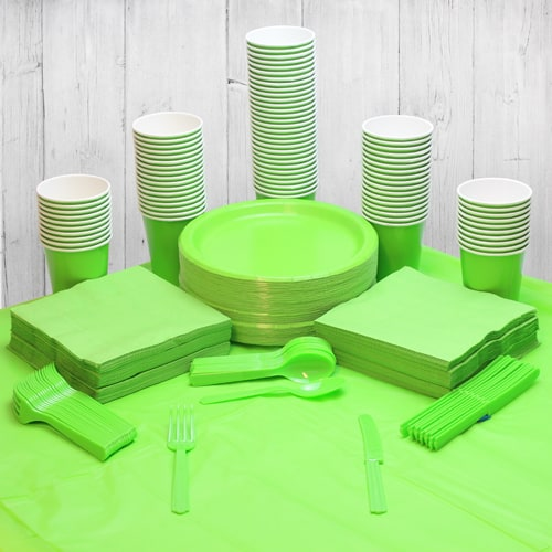 Lime green 90 Person Party Pack