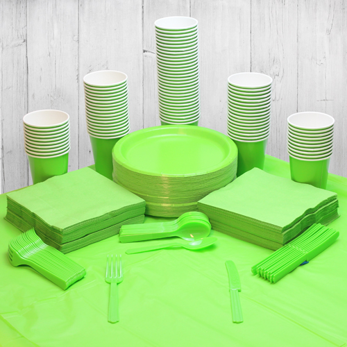Lime Green 98 Person Party Pack Product Image